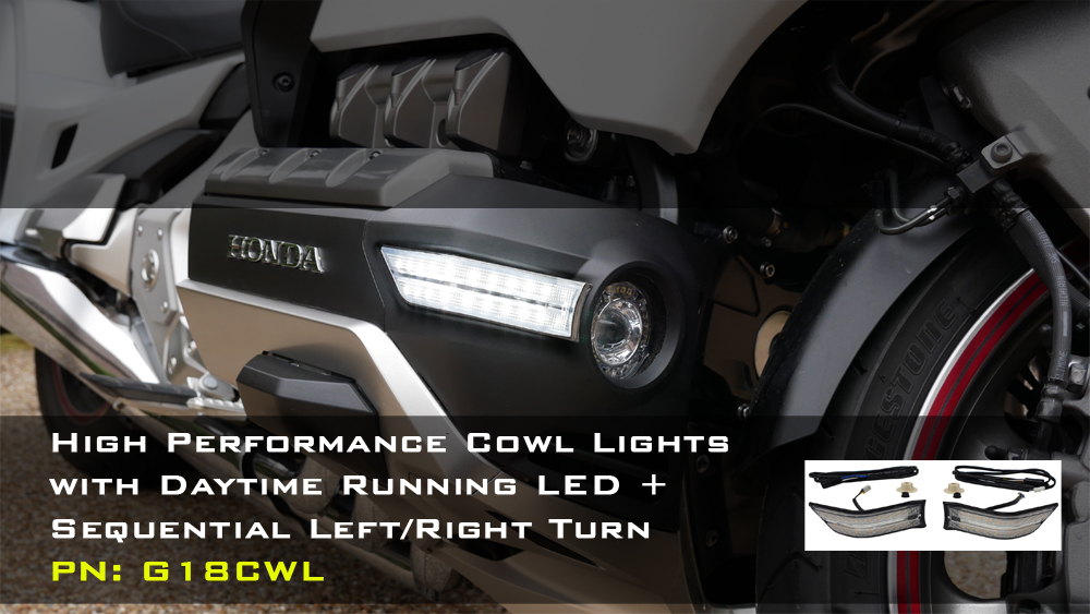 Cowl lights with DRL and Sequential LED Turn